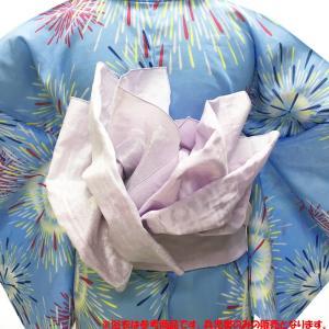 【A0】 兵児帯 女性 No.81 薄紫 蝶柄 浴衣帯 大人 レディース 在庫処分品|eriko