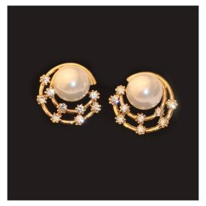 【激安均一セール】ダイヤモンド付き パール ピアス ファッション ジュエリー パーティー アクセサリー レディース 3714071101