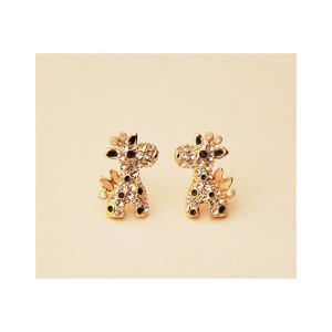 【激安均一セール】ダイヤモンド付き ピカピカ 可愛い 鹿ちゃん ピアス イヤリング プレゼント ファッション小物 レディース 3714101712