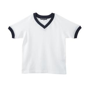 体操服[トップス] 白×紺フライス お受験 体操着 100110120130 ernie-essie