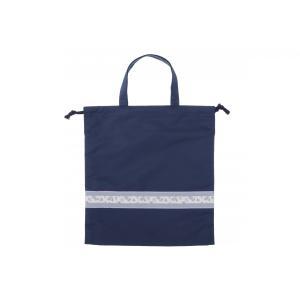 ナイロン靴袋[リボンテープ/パープル] お受験 紺 シューズケース|ernie-essie