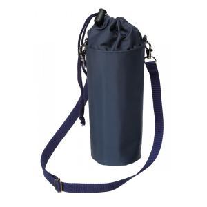 濃紺水筒ケース  保冷シート付 水筒カバー ペットボトルケース お受験 ショルダー紐付き|ernie-essie