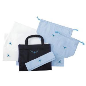 [横浜雙葉試験用]手刺繍ランチセット ハンド刺繍デイジー ランチバッグ お弁当袋 コップ袋 お箸ケース おひざ掛け ランチョンマット|ernie-essie