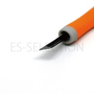 消しゴムはんこ専用彫刻刀「ゴムハン彫刻刀」印刀(道刃物工業)専用設計だから彫りやすい RABBYシリーズ 消しゴム版画にも|es-selection|04