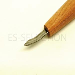 消しゴムはんこ プロ作家専用彫刻刀「匠〜TAKUMI〜」余白サラエ「左」4.5mm(道刃物工業)繊細な彫りやきれいな彫りを実現するハイエンドモデル|es-selection|05