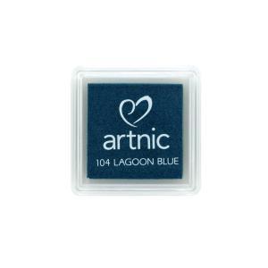 アートニックS ラグーンブルー ツキネコ 全96色展開 世界中で愛されるロングセラースタンプパッド 消しゴムはんこやエンボス加工に最適|es-selection