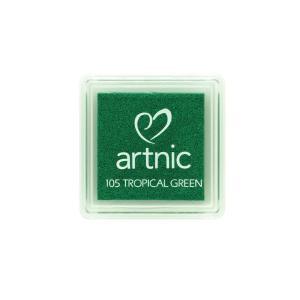 アートニックS トロピカルグリーン ツキネコ 全96色展開 世界中で愛されるロングセラースタンプパッド 消しゴムはんこやエンボス加工に最適|es-selection