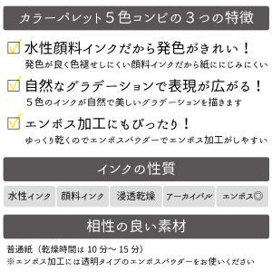 カラーパレット ピンクシェイド ツキネコ スタンプインク|es-selection|02