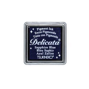 消しゴムはんこに最適「デリカータS」サファイアブルー(ツキネコ)クッキリ鮮明な発色のメタリックカラー系スタンプインク!ラバースタンプにも|es-selection|02