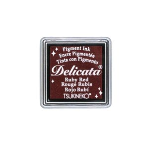 消しゴムはんこに最適「デリカータS」ルビーレッド(ツキネコ)クッキリ鮮明な発色のメタリックカラー系スタンプインク!ラバースタンプにも|es-selection|02
