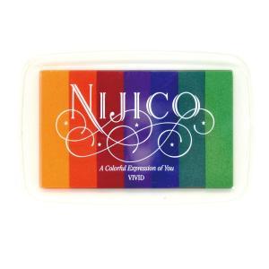 ツキネコ ニジコ ビビッド 発色の良いグラデーションスタンプインク 消しゴムはんこやエンボス加工に最適です!|es-selection