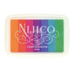 ツキネコ ニジコ パステル 発色の良いグラデーションスタンプインク 消しゴムはんこやエンボス加工に最適です!|es-selection