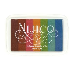 ツキネコ ニジコ アーストーン 発色の良いグラデーションスタンプインク 消しゴムはんこやエンボス加工に最適です!|es-selection