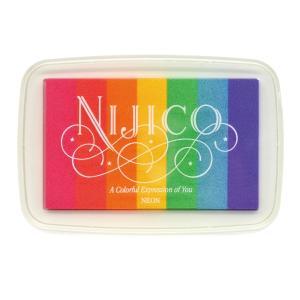 ツキネコ ニジコ ネオン 発色の良いグラデーションスタンプインク 消しゴムはんこやエンボス加工に最適です!|es-selection