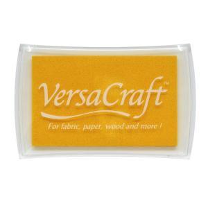 消しゴムはんこに最適「バーサクラフトL」レモンイエロー(ツキネコ)布や木・皮革にも使えるスタンプインク|es-selection