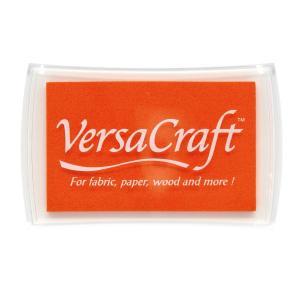 ツキネコ バーサクラフトL単色 タンジェリン スタンプインク 布や木・皮革にも使えます!|es-selection