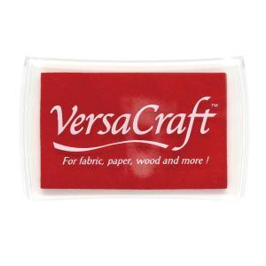 消しゴムはんこに最適「バーサクラフトL」ポピーレッド(ツキネコ)布や木・皮革にも使えるスタンプインク|es-selection