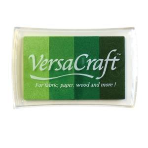 ツキネコ バーサクラフトLグラデーション グリーンシェイド スタンプインク 布や木・皮革にも使えます!|es-selection|02
