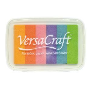 消しゴムはんこに最適「バーサクラフトレインボー」タフィー(ツキネコ)布や木・皮革にも使えるマルチカラースタンプインク|es-selection