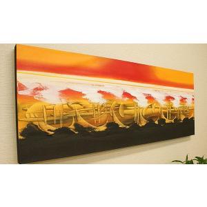 バリ絵画 モダンアート120×45 12 絵画 壁掛け アート アジアン雑貨 アートパネル モダン 北欧 ファブリックパネル バリ 雑貨 モダンアート|es-style