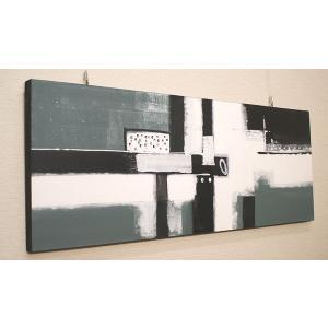 バリ絵画 モダンアート 120×45 20 アートパネル 北欧 バリ 絵画 壁掛け アート インテリア アジアン モダン 抽象画 ファブリックパネル|es-style