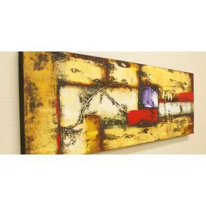 バリ絵画 モダンアート 100×35 25 絵画 壁掛け アート アジアン雑貨 アートパネル モダン 北欧 ファブリックパネル バリ モダンアート|es-style