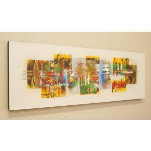 スタイリッシュな雰囲気のモダンスタイルアート  バリ島の画家によって、1点ずつ手書きにて描かれた絵画...