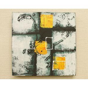 バリ絵画 モダンアート 30×30 05 アートパネル バリ 絵画 壁掛け アート アジアン 雑貨 北欧 モダン 抽象画 ファブリックパネル|es-style|02