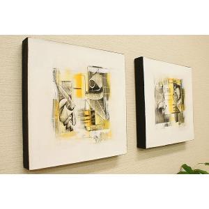 バリ絵画 モダンアート 30×30 22 アートパネル バリ 絵画 壁掛け アート アジアン 雑貨 北欧 モダン 抽象画 ファブリックパネル|es-style