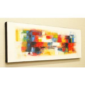 バリ絵画 モダンアート 100×35 29 絵画 壁掛け アート アジアン アートパネル モダン 北欧 ファブリックパネル バリ インテリア|es-style