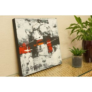 バリ絵画 モダンアート 40×40 30 アートパネル 絵画 インテリア おしゃれ アート 壁掛け アジアン 北欧 モダン 抽象画 ファブリックパネル|es-style