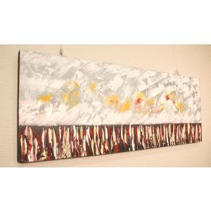 バリ絵画 モダンアート 120×45 31 アートパネル 絵画 インテリア おしゃれ 壁掛け 絵 モダン アート アジアン 北欧 抽象画 ファブリックパネル|es-style