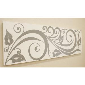バリ絵画 ドットアート140×45 C モノトーン アートパネル アジアン バリ 絵画 壁掛け アート 北欧 インテリア ファブリックパネル|es-style