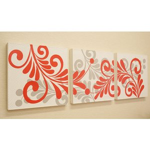 バリ絵画 3連 ドットアート 03 アートパネル バリ 絵画 壁掛け アート アボリジニ アジアン 北欧 ファブリックパネル|es-style