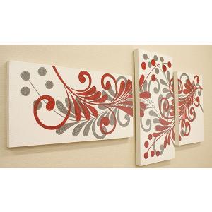 バリ絵画 3連複合 ドットアート 05 アートパネル 3枚 モダン 絵画 壁掛け アート アジアン 北欧 ファブリックパネル バリ インテリア|es-style