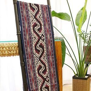 イカット 05 アジアン 布 壁掛け マルチカバー テーブルランナー タペストリー 手織り 生地 バリ アンティーク おしゃれ 和風|es-style
