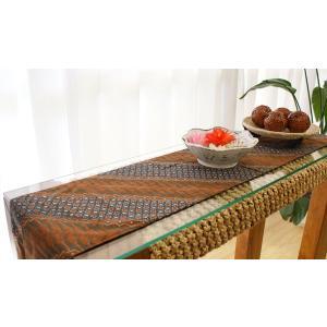 バティック テーブルランナー 02 アジアン 雑貨 バリ 和風 テーブルセンター タペストリー モダン アンティーク おしゃれ メール便|es-style