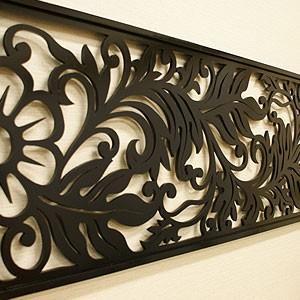 アートパネル リゾートリーフB 140×45 北欧 おしゃれ 壁掛け インテリア モダン アジアン インテリアアートパネル バリ チーク 木製 アートフレーム|es-style