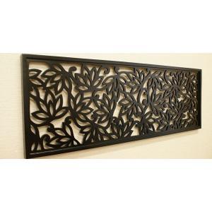 アートパネル ロータス 100×35 アートパネル 北欧 おしゃれ 壁掛け インテリア モダン アジアン インテリアアートパネル バリ チーク 木製|es-style