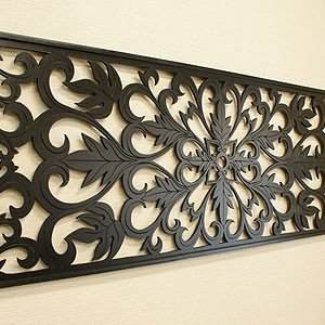 アートパネル オリエンタルアラベスク 180×60 壁掛け インテリア アジアン バリ アートフレーム 木製 レリーフ|es-style