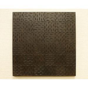 ウッドレリーフパネル なぐり模様 30×30 アートパネル アジアン 雑貨 バリ 壁掛け アート パネル アンティークウッド レリーフ 木製 モダン|es-style