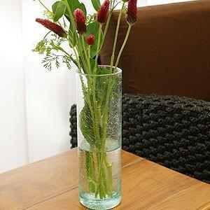 バリガラス フラワーベース クラック ラウンド Mサイズ 花瓶 ガラス フラワーベース おしゃれ 丸型 大型 大きい シンプル アジアン雑貨 バリ アジアン系|es-style