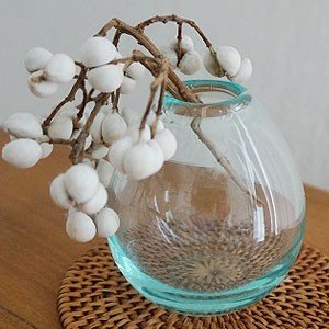バリガラス ミニ フラワーベース A リサイクルガラス 北欧 一輪挿し ガラス おしゃれ 花瓶 小さい ミニ 丸型 シンプル アジアン雑貨|es-style