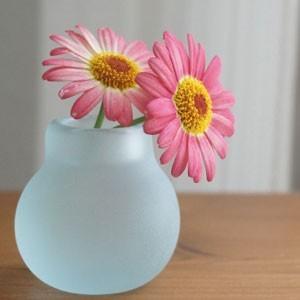 バリガラス ミニ フラワーベース B フロスト 一輪挿し ガラス おしゃれ 花瓶 小さい フラワーベース ミニ 丸型 シンプル 北欧 アジアン|es-style