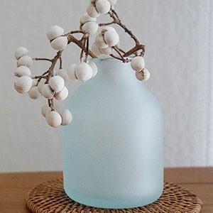 バリガラス ミニ フラワーベース C フロスト 一輪挿し ガラス おしゃれ 花瓶 小さい フラワーベース ミニ 丸型 シンプル 北欧 アジアン|es-style