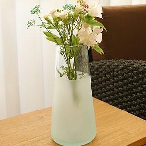 ツートン ガラス フラワーベース A-L 花瓶 ガラス フラワーベース おしゃれ 大型 大きい 丸型 シンプル アジアン バリ 北欧 アジアン系|es-style