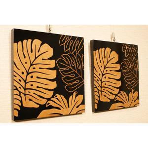 アートフレーム モンステラ 30×30 アジアン雑貨 アートパネル モダン 北欧 絵画 壁掛け アート 木製 アジアン バリ 雑貨 インテリア|es-style