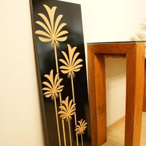 アートフレーム フラワー A 100×35 アジアン アートパネル おしゃれ 壁掛け インテリア モダン 北欧 レリーフ アジアン系|es-style