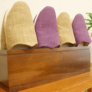 チーク スリッパラック マキアートブラウン 木製 スリッパラック おしゃれ 北欧 スリム モダン アジアン 雑貨 バリの写真