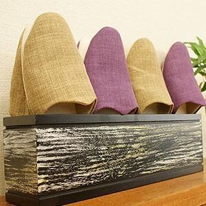 チーク スリッパラック ブラックウォッシュ 木製 スリッパラック おしゃれ 北欧 スリム モダン アジアン 雑貨 バリの写真